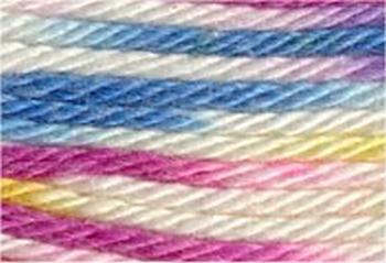 Cotton 6 - fuchsia/roomwit/aqua/geel