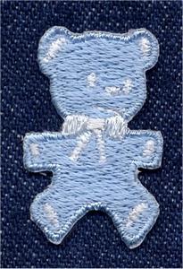 Lief - Beertje - li.blauw  3 x 2 cm