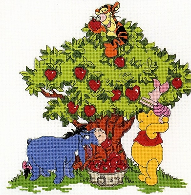 Winnie the Pooh - Apple Picking  24 x 24,5 cm