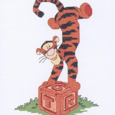 Winnie the Pooh - Tiggers spelling block  16,5 x 11 cm