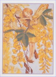 Flower Fairies - The Laburnum Fairy  12,5 x 17,5 cm