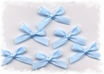 Corsage - strik blauw