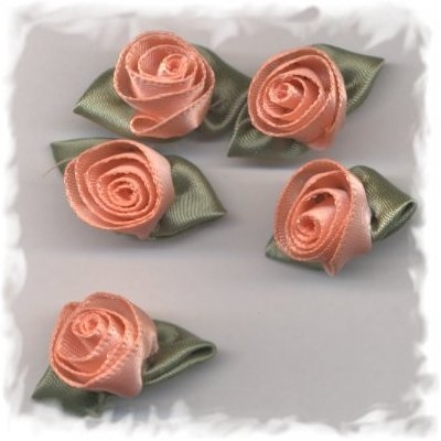 Corsage - roos groot zalm-rose