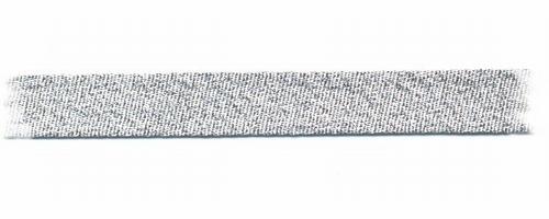 Bias-band - zilver  1,5 cm