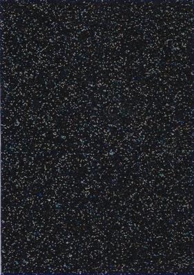 Tasjesstof - glitterzwart  A4