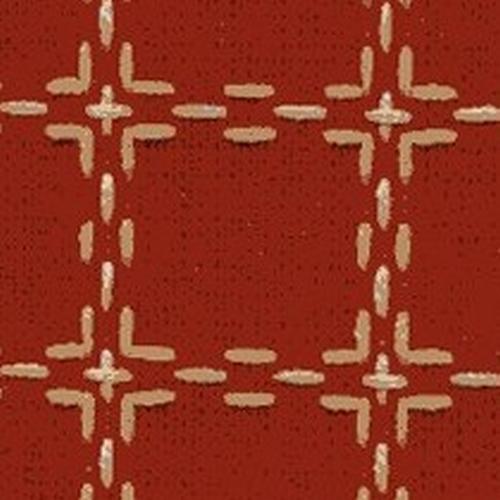 Handwerkstof - beiersbont - steenrood/beige  1,60 cm breed