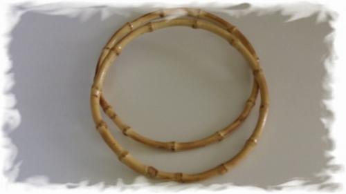 Tasbeugel - bamboe  20 cm o