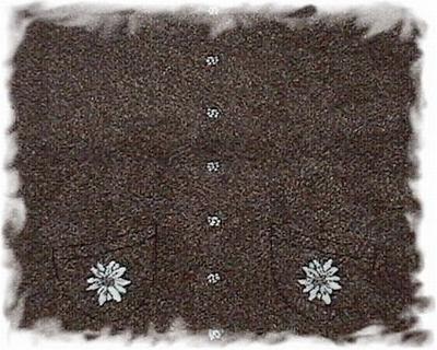 Stoffen - borg - edelweis bruin gemeleerd  1,50 mtr. breed