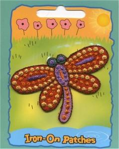 Glitter - Libelle  6,75 x 4,50 cm