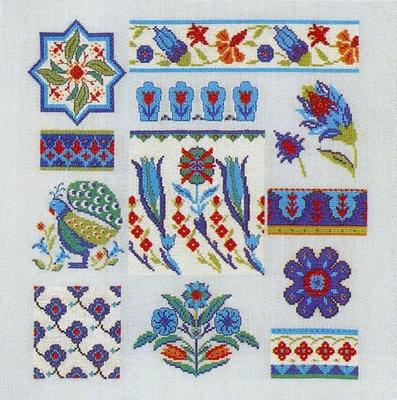 W - Persian mosaic  34 x 34 cm