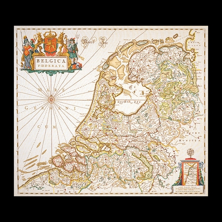 Nederland (bleau 17e eeuw)  115 x 130 cm