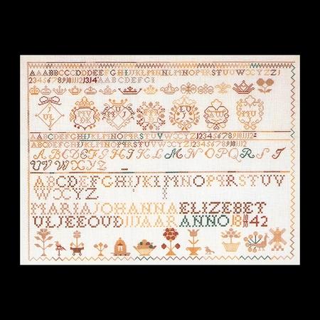 Merklap 1842  50 x 38 cm