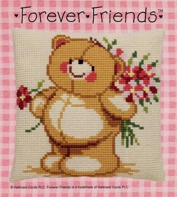 Kussenpakket - Forever Friends - met bloemen  40 x 40 cm
