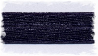 Elastisch biasband - donkerblauw  2 cm