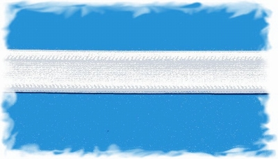 Taille elastiek - wit  1,8 cm