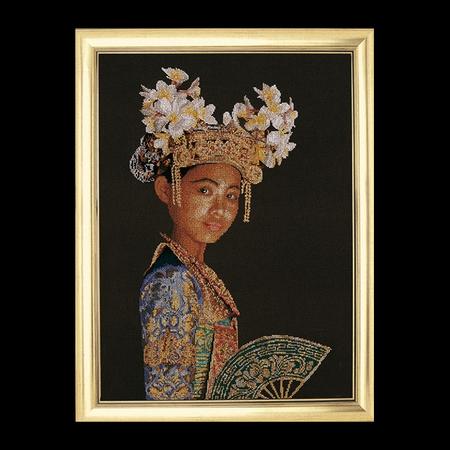 Indonesische danseres  60 x 90 cm