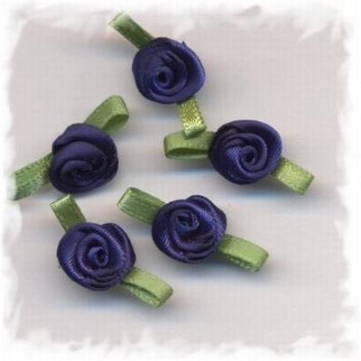 Corsage - roos klein donker blauw