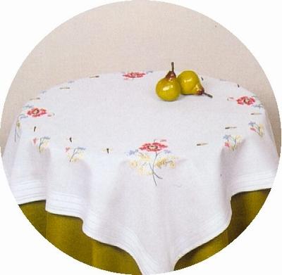 Tafelkleedje - Klaproos  80 x 80 cm