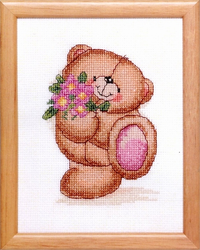 Forever Friends - met rose bloemen  13 x 17 cm