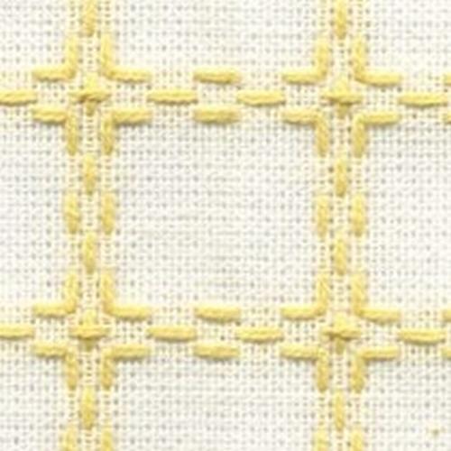 Handwerkstof - beiersbont - wit/zachtgeel  1,60 cm breed