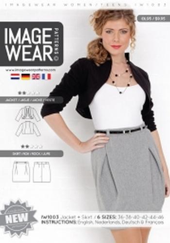 IW1003 - Trendy kort jasje en prachtige plooirok