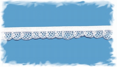 Elastisch kantje - wit  1,25 cm