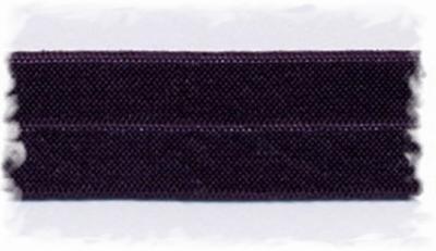 Elastisch biasband - aubergine  2 cm