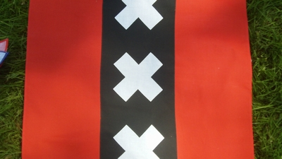 Zakdoek - Amsterdamse vlag  ca. 55 x 55 cm