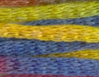 Lacet space - blauw/geel/oud-rose