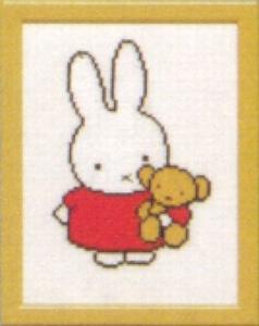 Nijntje - met beer  13 x 17 cm
