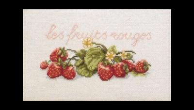Fruit en groente - Aardbeien  29 x 20 cm