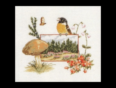 Flora & Fauna - Paddestoel  39 x 35 cm
