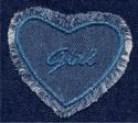Hart - Girl 6,5 x 7 cm