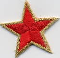 Ster - goud-rood 3 cm o