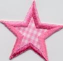 Ster - rose-geruit 5 cm o