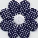 Bloem - blauw-wit 3,75 cm o