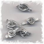 Corsage - roos klein zilver
