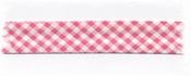 Bias-band - ruitje rose 2 cm