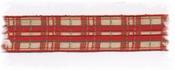Band - schotse ruit rood-goud-groen 2,5 cm