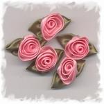 Corsage - roos groot rose-groen