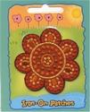 Glitter - bloem rood-goud 6 cm o