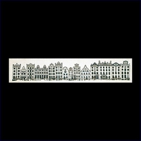 Amsterdamse geveltjes 23 x 100 cm