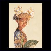 Indonesische danseres 35 x 45 cm