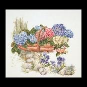Hortensia - gemengd 48 x 41 cm