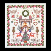 Kerstmerklap 60 x 66 cm