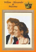 Verlovings-afbeelding Willem Alexander en Máxima 26 x 26 cm