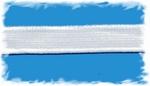 Taille elastiek - wit 2 cm