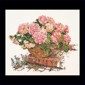 Hortensia - rose 44 x 39 cm