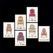 6 x stoeltjes 13,5 x 18,5 cm