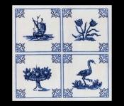 Hollands Glorie - Delfs Blauw 42 x 41 cm